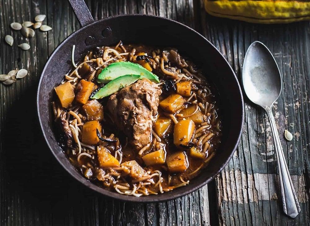 Chipotle, Chicken & Pumpkin Guiso by Kitchen Wrangler