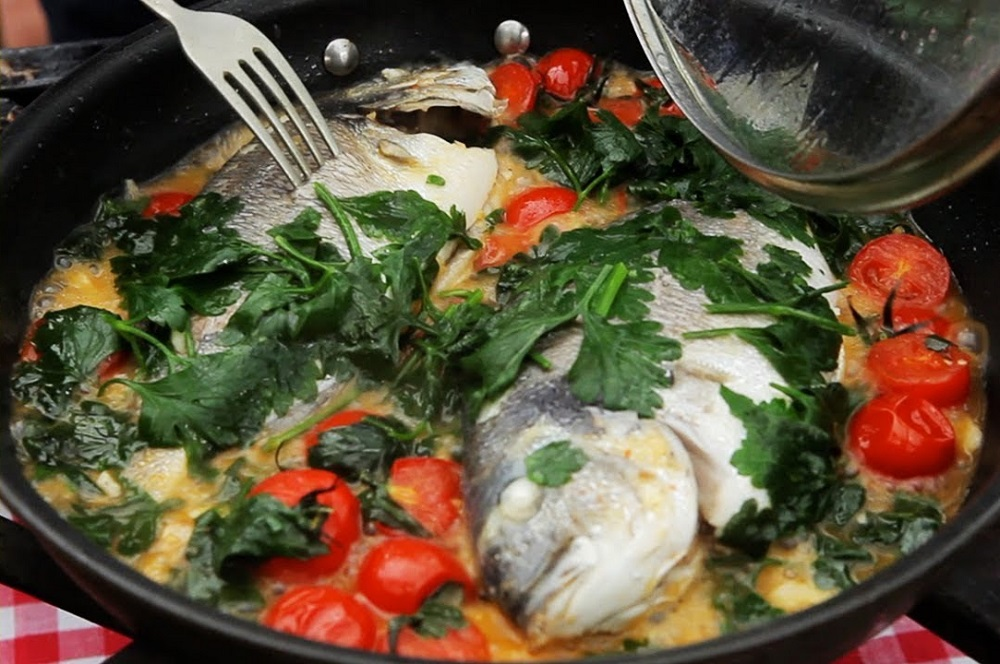 Baked Porgy With Basil