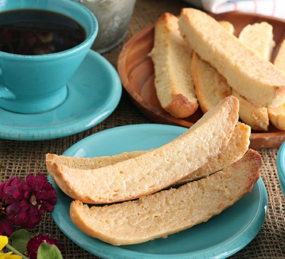 Biscocho with Condensed Milk - Foxy Folksy