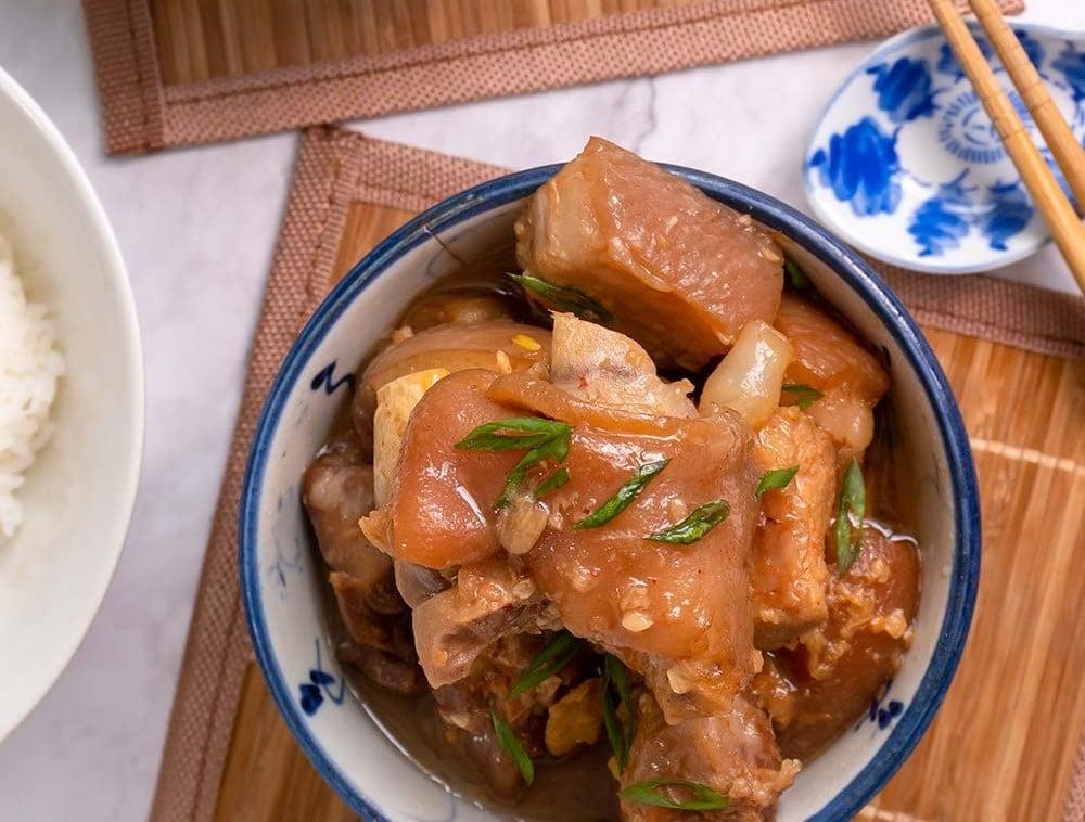 Braised Pork Leg With Red Bean Curd