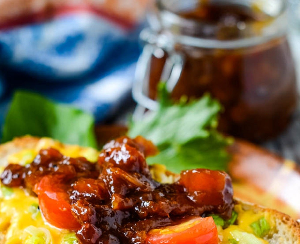Easy Spiced Apricot and Almond Chutney by Larder Love