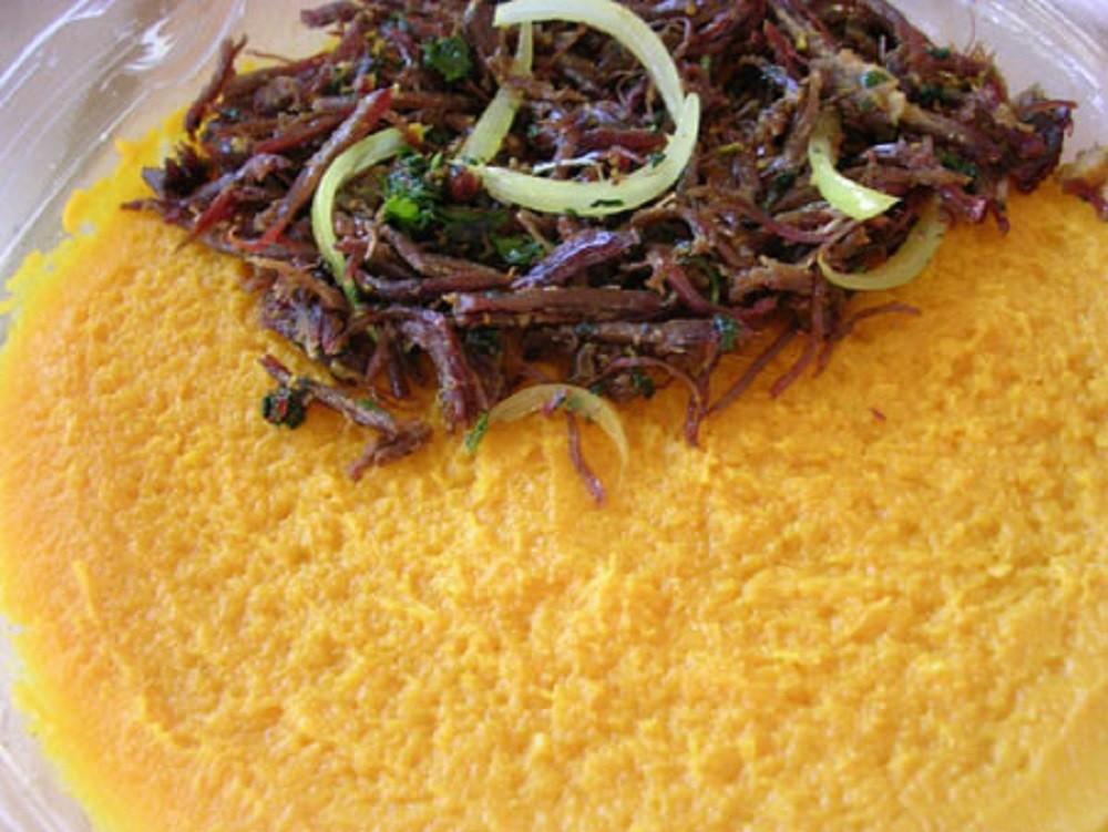 Escondidinho of Dried Meat and Pumpkin - Web Laranja