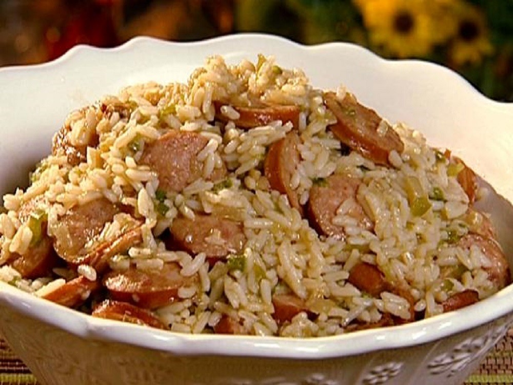 Food Network - Dirty Rice With Smoked Sausage