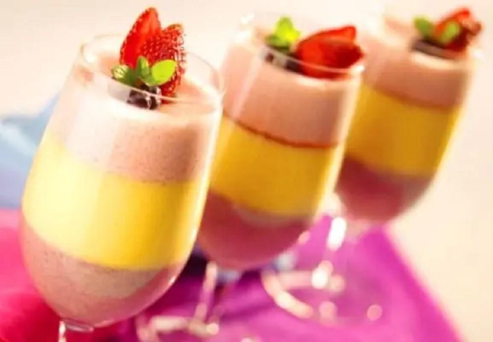 Fruit Cream Cup: Three Colors, Three Flavors - Recipe