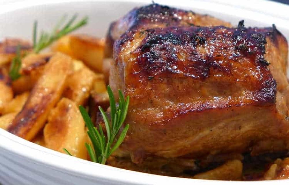 Greek Style Roast Pork With Honey Sauce