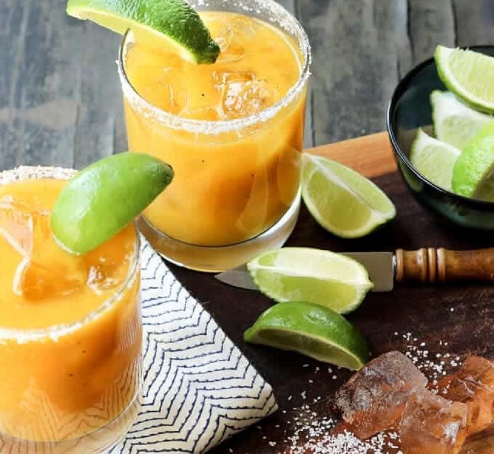Grilled Mango Habanero Margarita