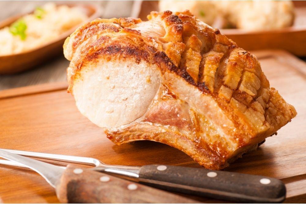 Herb-Crusted Leg of Pork