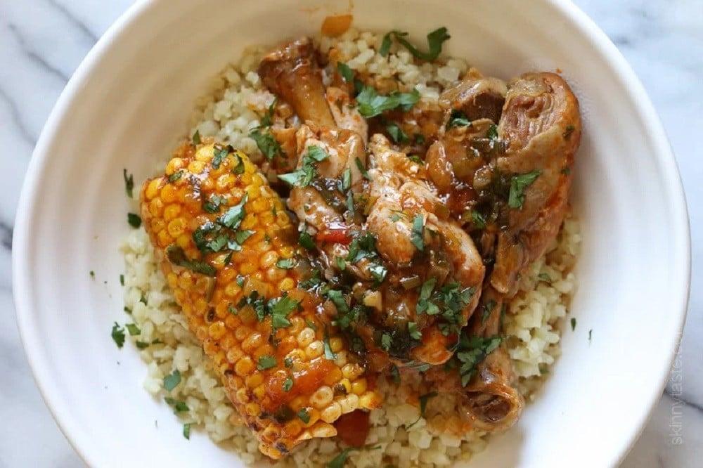 Instant Pot Chicken Stew With Corn (Pollo Guisado Con Maiz)
