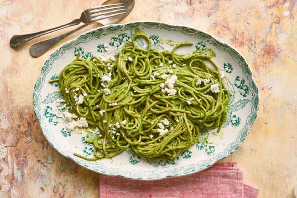 Llubav's Green Spaghetti (By Epicurious)