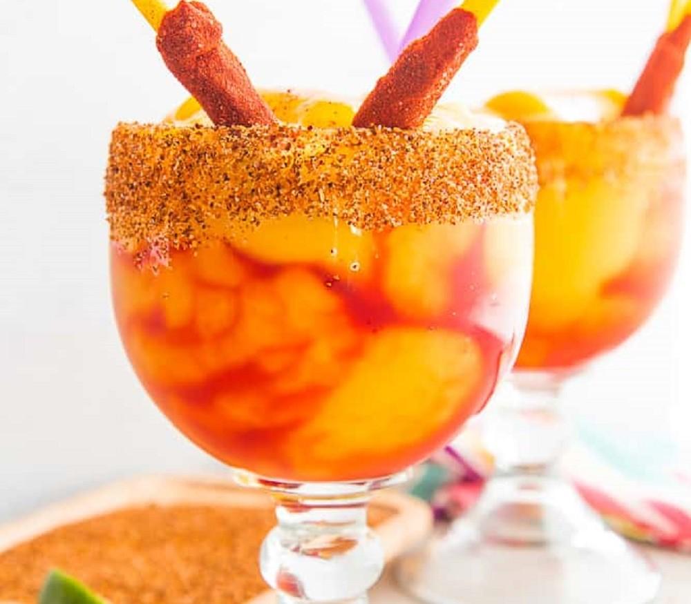Mangonada (Spiced Frozen Mango Margaritas) by Marta Rivera