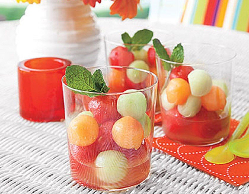 Melon Ball Salad with Lime Syrup By My Recipes