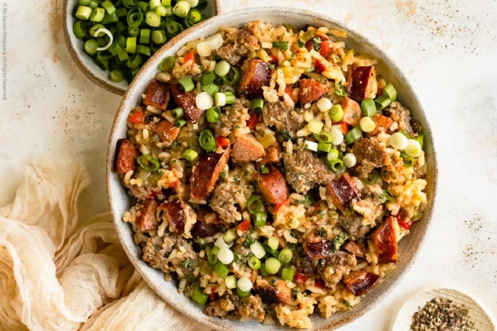 No Spoon Necessary - Easy Cajun Dirty Rice (One Pot!)