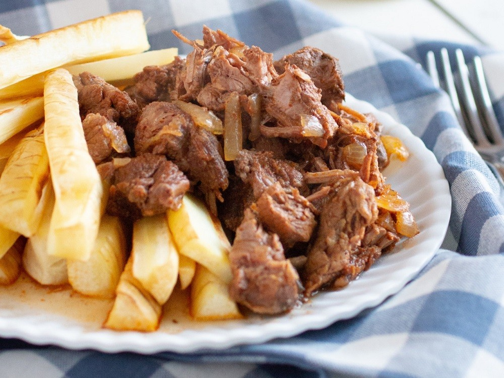Papas Fritas with Braised Beef   Meal
