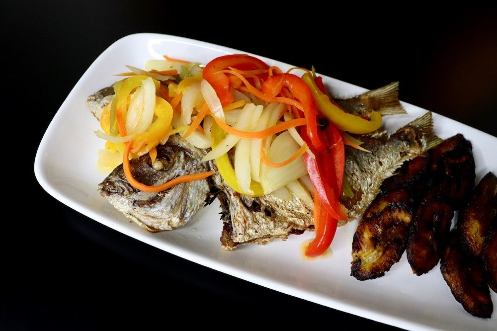 Porgy Escovitch Fish With Sweet Plantains