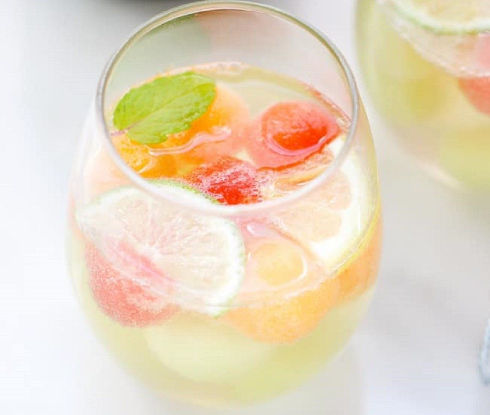 Sparkling Melon Ball Sangria By Cooking JSL
