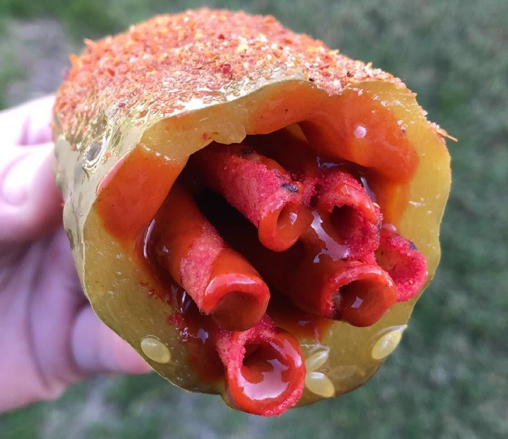Takis Stuffed Pickles