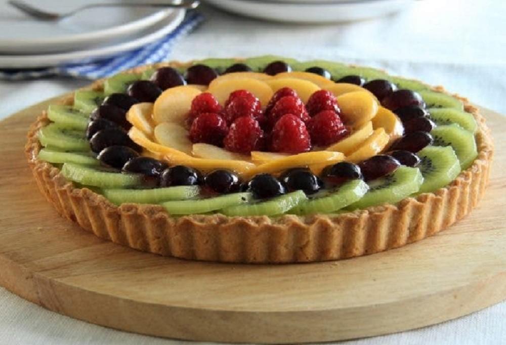 Tarta de Crema y Frutas Frescas - De Rechupete