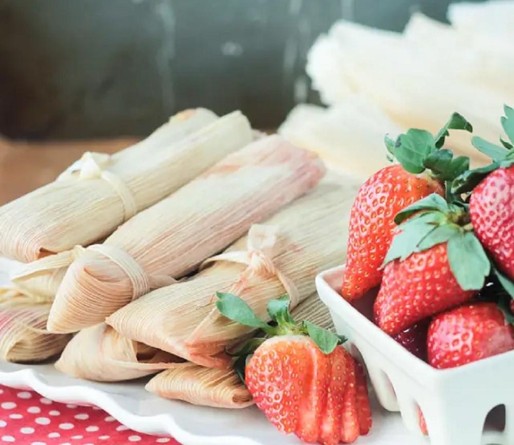 Vegan Strawberry Tamales